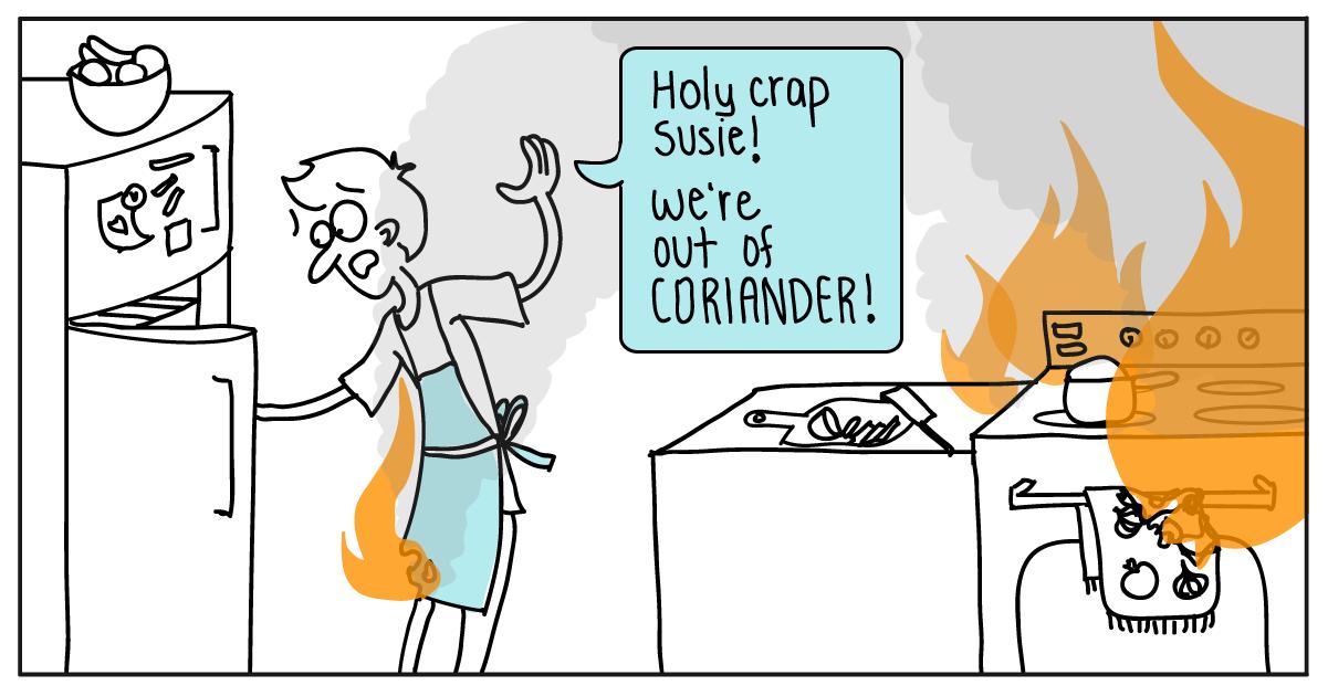 kitchen fire cartoon V5